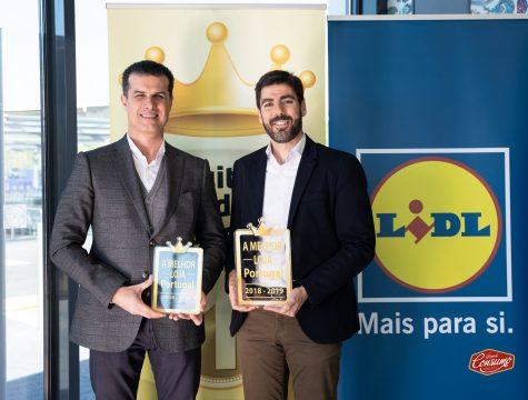 Pedro Rebocho, administrador de vendas, e Alexis Latorre, diretor para a região de Lisboa, do Lidl Portugal. © Sara Matos