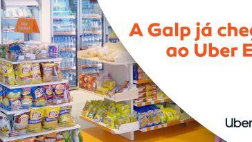 Galp chega ao Uber Eats com produtos de loja