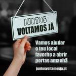 A plataforma que tem como objetivo é apoiar bares, restaurantes e cafés na sua reabertura - #JuntosVoltamosJá - está disponível em juntosvoltamosja.pt.
