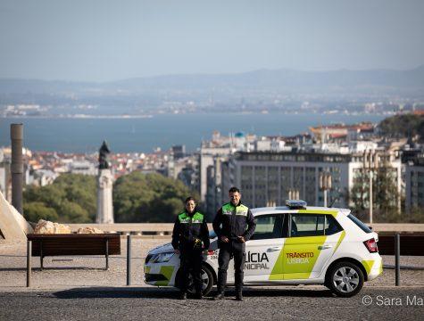 """Sérgio Coelho e Emília Oliveira, agentes da Polícia Municipal de Lisboa. """"Estamos na rua pela sua segurança e pela segurança de todos"""""""