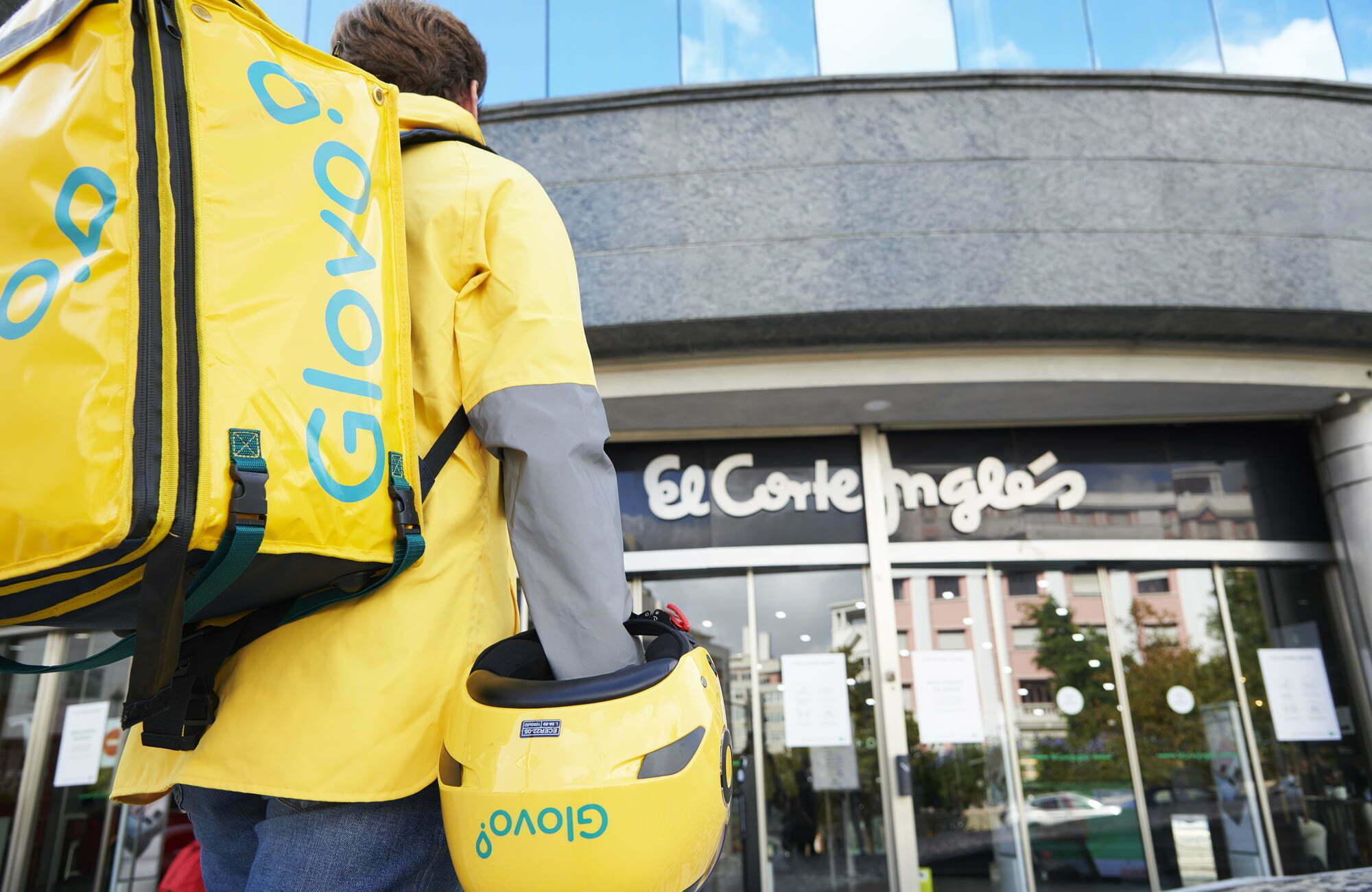 El Corte Inglés cria parceria com a Glovo
